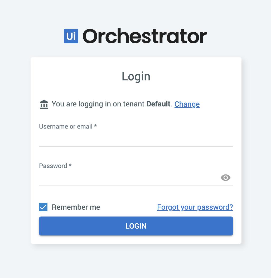UIPath Login Screen on Azure App Service