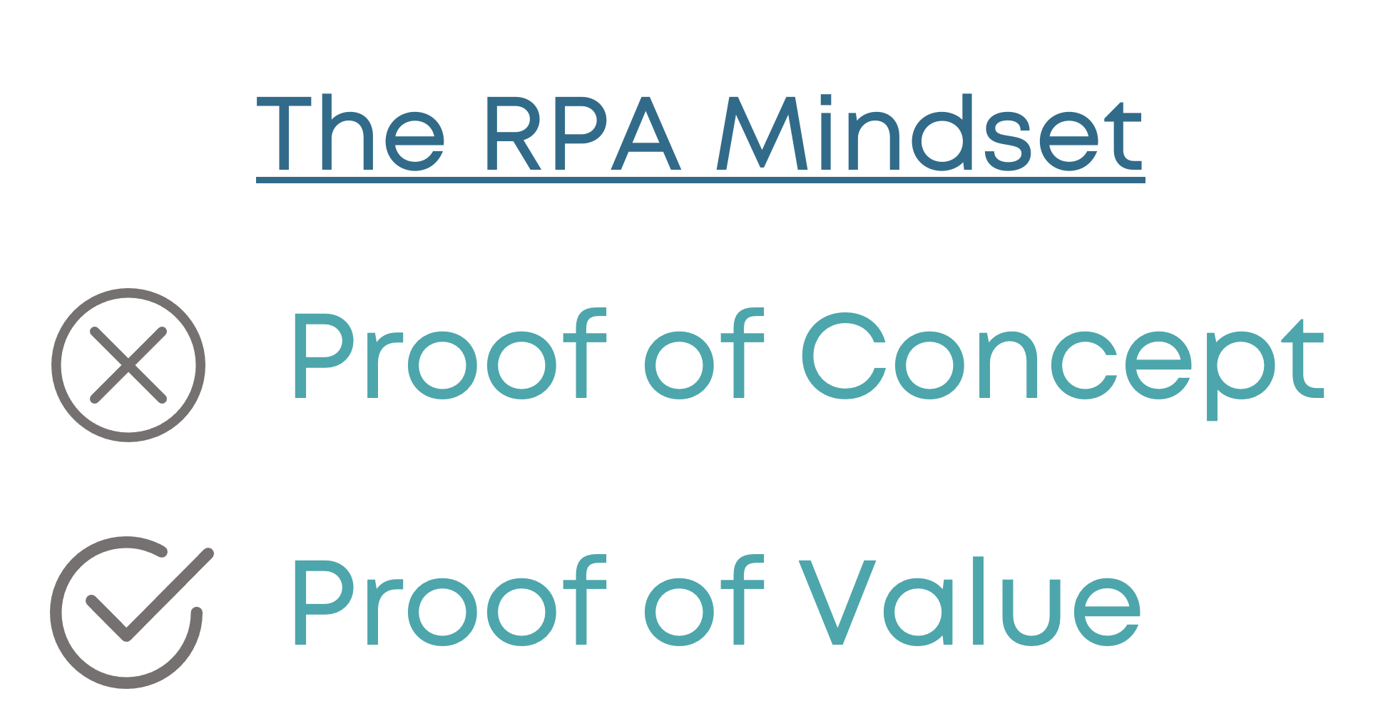 RPA Proof of Value, not Proof of Concept